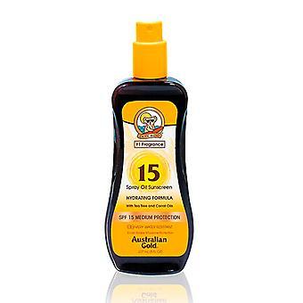 Protetor solar de óleo de bronzeamento hidratando o fps de ouro australiano 15 (237 ml)