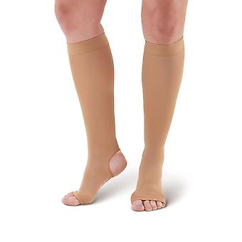 Pebble UK Open Toe & Open Heel Support Socks [Style P505] Sand  XL