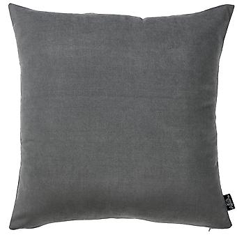 Set of 2 Grey Brushed Twill Decorative Throw Pillow Covers