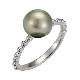 Adriana silver ring rhod. Tahiti black 8-9mm Premium PR4-34-60
