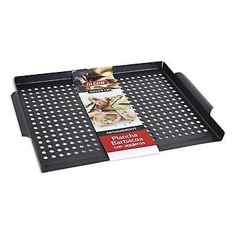 Grilling plate with Algon barbecue holes (36 x 29 cm)