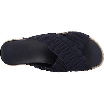1.STATE Womens salyn Open Toe Casual Slide Sandals