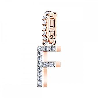 سواروفسكي ريميكس ارتفع الذهب لهجة مطلي والأبيض كريستال حرف F سحر 5437616