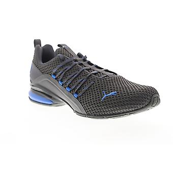 Puma Axelion Spark  Mens Gray Mesh Lace Up Athletic Cross Training Shoes