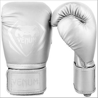 Venum contender boxing gloves - silver
