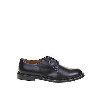 Doucal's Du1385phoeuf11nb00 Men's Blue Leather Lace-up Shoes