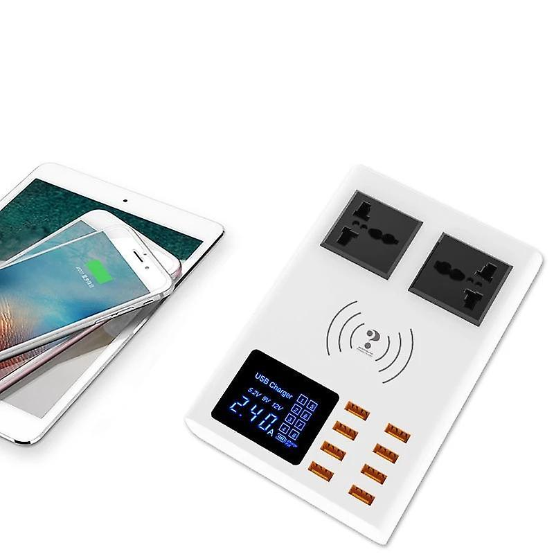 Fast charging station with 8-port qi wireless fast charger