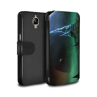 STUFF4 PU Leather Wallet Flip Case/Cover for OnePlus 3/3T/Sapphire Peaks/Alien World Cosmos