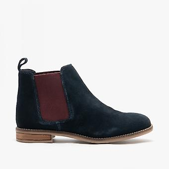 Cipriata Stellira Ladies Suede Twin Gusset Ankle Boot Navy/berry