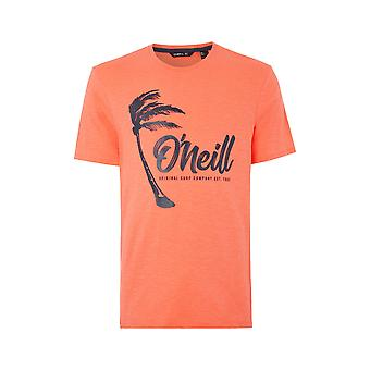 O'Neill Men's T-paita ~ Palm Graphic mandarine