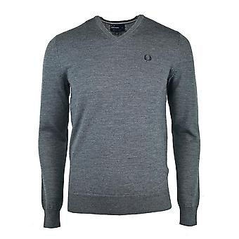 Fred Perry K7210 829 Grey Jumper