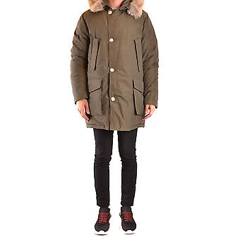 Woolrich Ezbc033052 Men's Green Nylon Outerwear Jacket