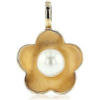 Luna Pearls Kolye Sarı Altın 585 Tatlı su Yetiştiriciliği İnci 5-5.5mm