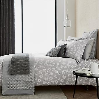 Siena Bedding And Pillowcase By Peacock Blue Hotel In Silver