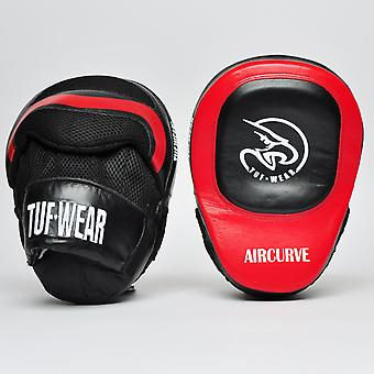 Tuf Wear Aircurve Focus Hook and Jab Pads Black / Red