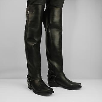 Sendra 7977 Men's Leather Thigh High Square Toe Boots Pull Oil Con Arnes
