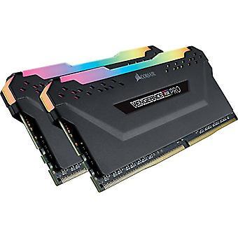 コルセア 復讐 RGB PRO 16 GB (2x8 GB) DDR4 3000MHz C15 XMP 2.0 RGB LED LED LED 照明メモリ キット 熱狂, ブラック