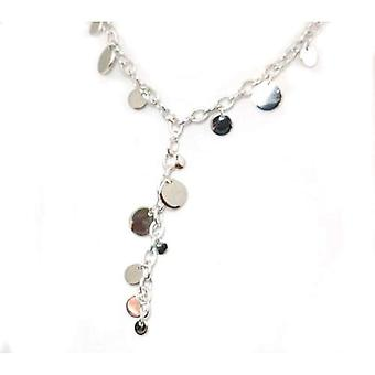 The Olivia Collection Sterling Silver Fancy Circle Disc Necklace 13 Gram