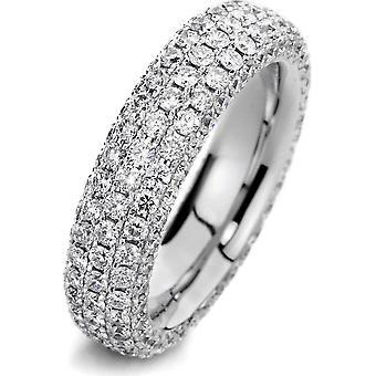 Diamond Ring Ring - 18K 750/- Wit Goud - 3.35 ct. - 1C280W855 - Ringbreedte: 55