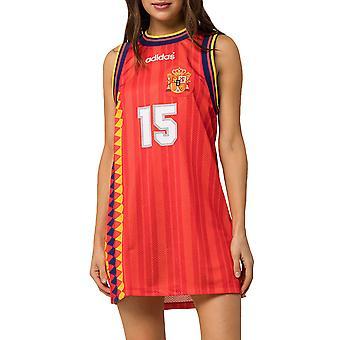 adidas Originals Womens Spain Football Crew Neck Sleeveless Tank Dress - Multi