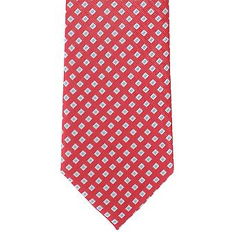 Michelsons of London Square Neat Polyester Tie - Coral Pink