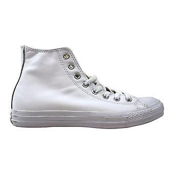 Converse Chuck Taylor All Star Leather Hi White Monochrome 1T406 Men's