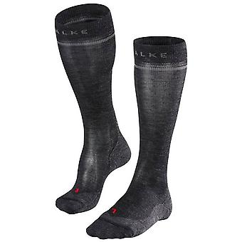 Falke Energizing Wool Knee High Socks - Asphalt Melange Grey