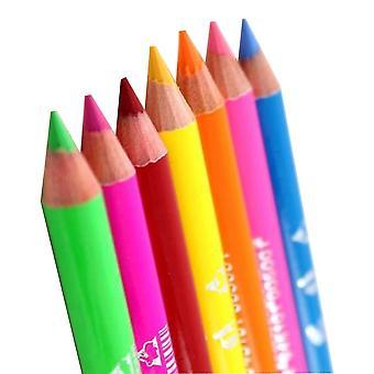 Saffron Neon Eye And Lip Liner Pencils Set Of Seven