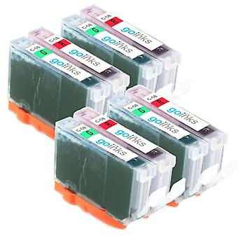 4 Compatible Sets of Canon CLI-8R & CLI-8G Printer Ink Cartridges (Red & Green)