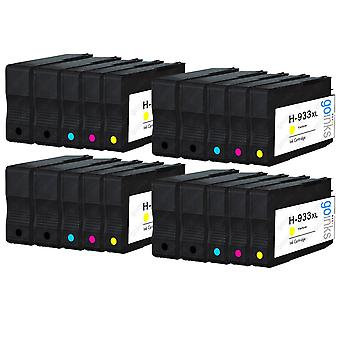 4 Go Tinten kompatibel Set von 4 + Extra Schwarz zu ersetzen HP 932 Drucker Tintenpatrone (20 Tinten) - schwarz, Cyan, Magenta, Gelb kompatibel / nicht-OEM für HP Officejet Drucker
