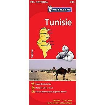 Tunisia - Michelin National Map 744 - Map - 9782067172357 Book