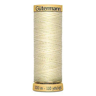 Gutermann 100% natural cotton thread 100m hand- en machinekleurcode - 919
