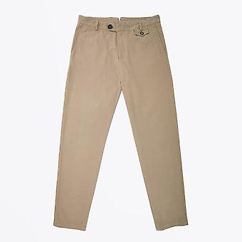 Oliver Spencer  - Fishtail Cotton Trousers - Beige