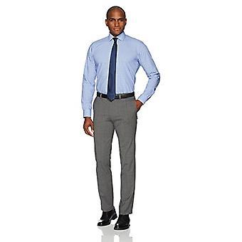 BUTTONED DOWN Männer's Slim Fit Spread-Collar Non-Iron Kleid Shirt, blau Glen Pl...