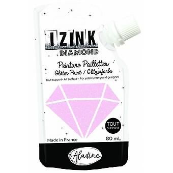 Aladine Izink Diamond Glitter Paint Pastel Pink 80ml.