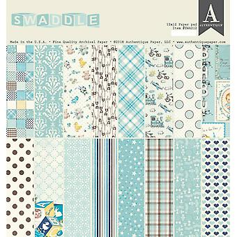 Authentique Swaddle Boy 12x12 pulgadas de papel Pad