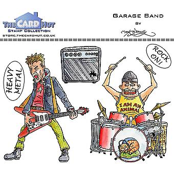 The Card Hut Garage Band Clear Stamps