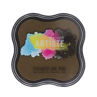 Docrafts Pigment Ink Pad - Chocolate