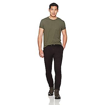 Goodthreads Hombres's Slim-Fit Washed Stretch Chino Pant, Negro, 38W x 28L