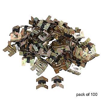 1 pouce métal Bronze Meubles Cabinet Mini Charnières Ensemble de 100