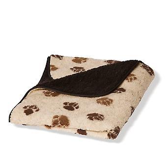 Danish Design Fleece Paw Beige/Brown Fleece Blanket - Grande (127x152cm)