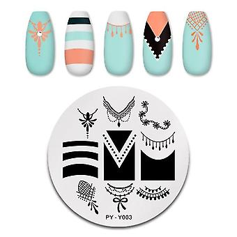 Nail Stamping Plates & Flower Rectangle Stainless Steel Nail Image Stencils