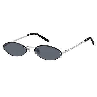 Sunglasses Women halbrandlos black/silver