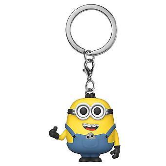 Minions 2 Rise of Gru Otto w/Pet Rock Pocket Pop! Keychain