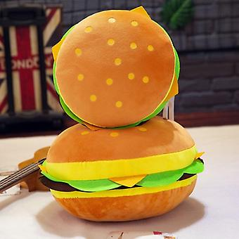 Cute Burger Spoof Pillow Soft Plush Padded Toy Cushion Birthday Gift For Kid