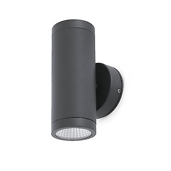 LED Outdoor Up Down Wall Light Dark Grey IP65