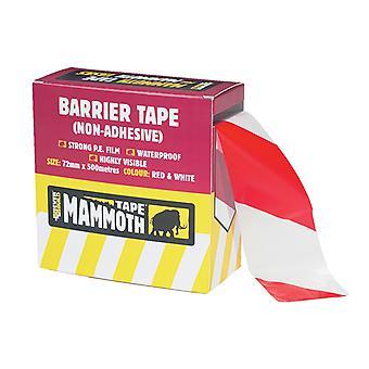 Everbuild Barrier Tape Red / White 72mm x 500m EVB2BARRD500