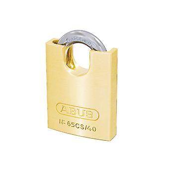 ABUS 65CS/40mm Brass Padlock Closed Shackle Carded ABU6540CSC