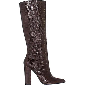 Marc Fisher Women's Shoes Revela3 Leather Closed Toe Knee High Fashion Boots