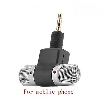 Omnidirectional Mini Audio Microphone 3.5mm Jack Microphone Mobile Phone Used For Voice Lecture Interview